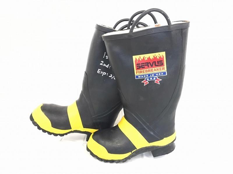 【米軍放出品】SERVUS 消防士用ブーツ サイズ6W(24cm) 長靴 ファイヤーマンブーツ (100)☆BJ7CK-2_画像3