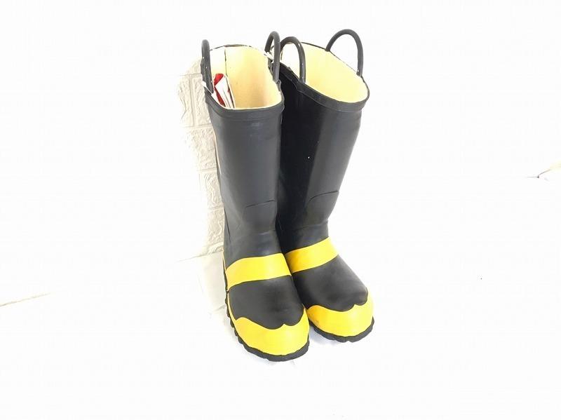 【米軍放出品】SERVUS 消防士用ブーツ サイズ6W(24cm) 長靴 ファイヤーマンブーツ (100)☆BJ7CK-2_画像1