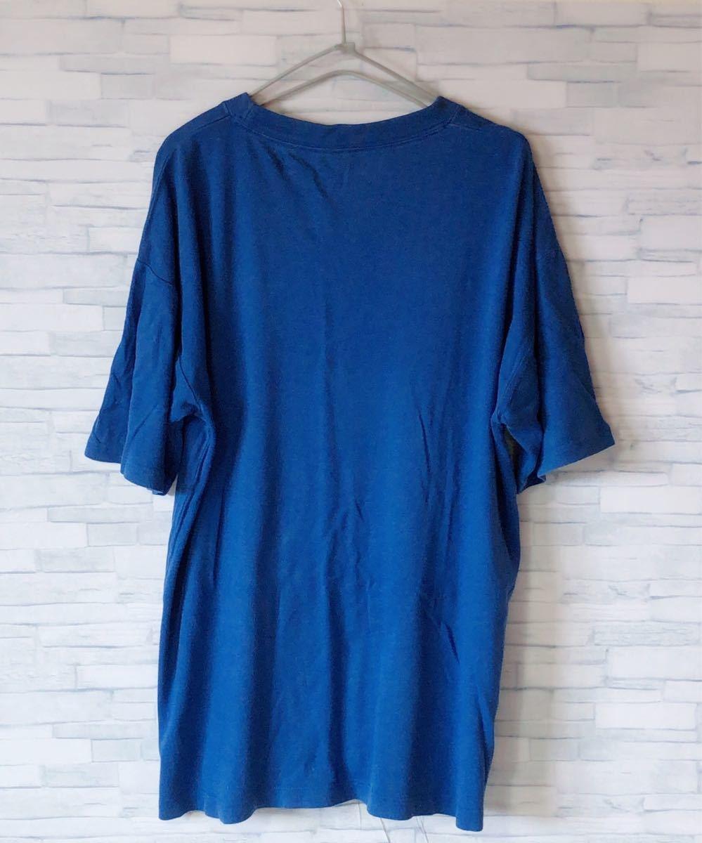刺繍ロゴ ワンポイント チャンピオン 夏服 メンズ 半袖 Tシャツ ゆるだぼ