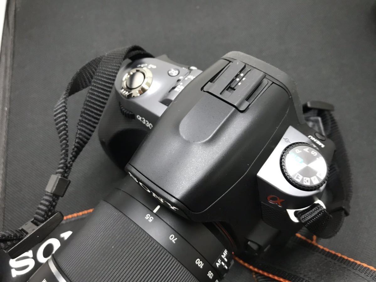 SONY ソニー デジタル一眼レフカメラ デジカメ DSLR-A330 レンズ付き ボディブラック 通電確認済み D847394-Y079#A226_画像4