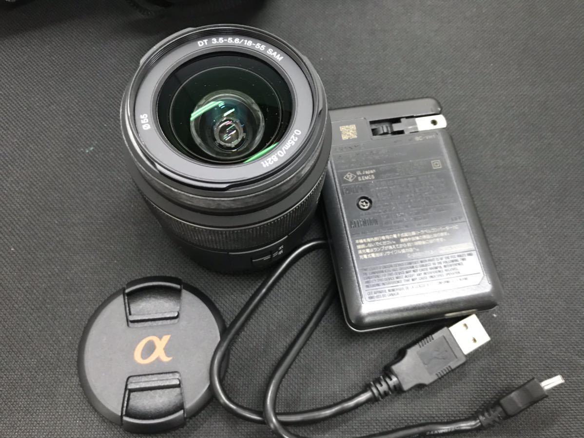 SONY ソニー デジタル一眼レフカメラ デジカメ DSLR-A330 レンズ付き ボディブラック 通電確認済み D847394-Y079#A226_画像7