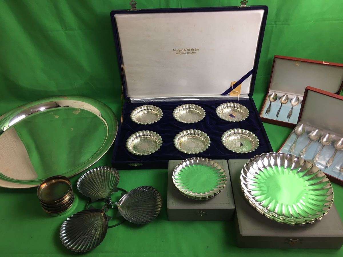 銀食器 宮本商工 純銀 Mappin&Webb Ltd シルバープレート スプーン 一部箱付き 重量5.2kg