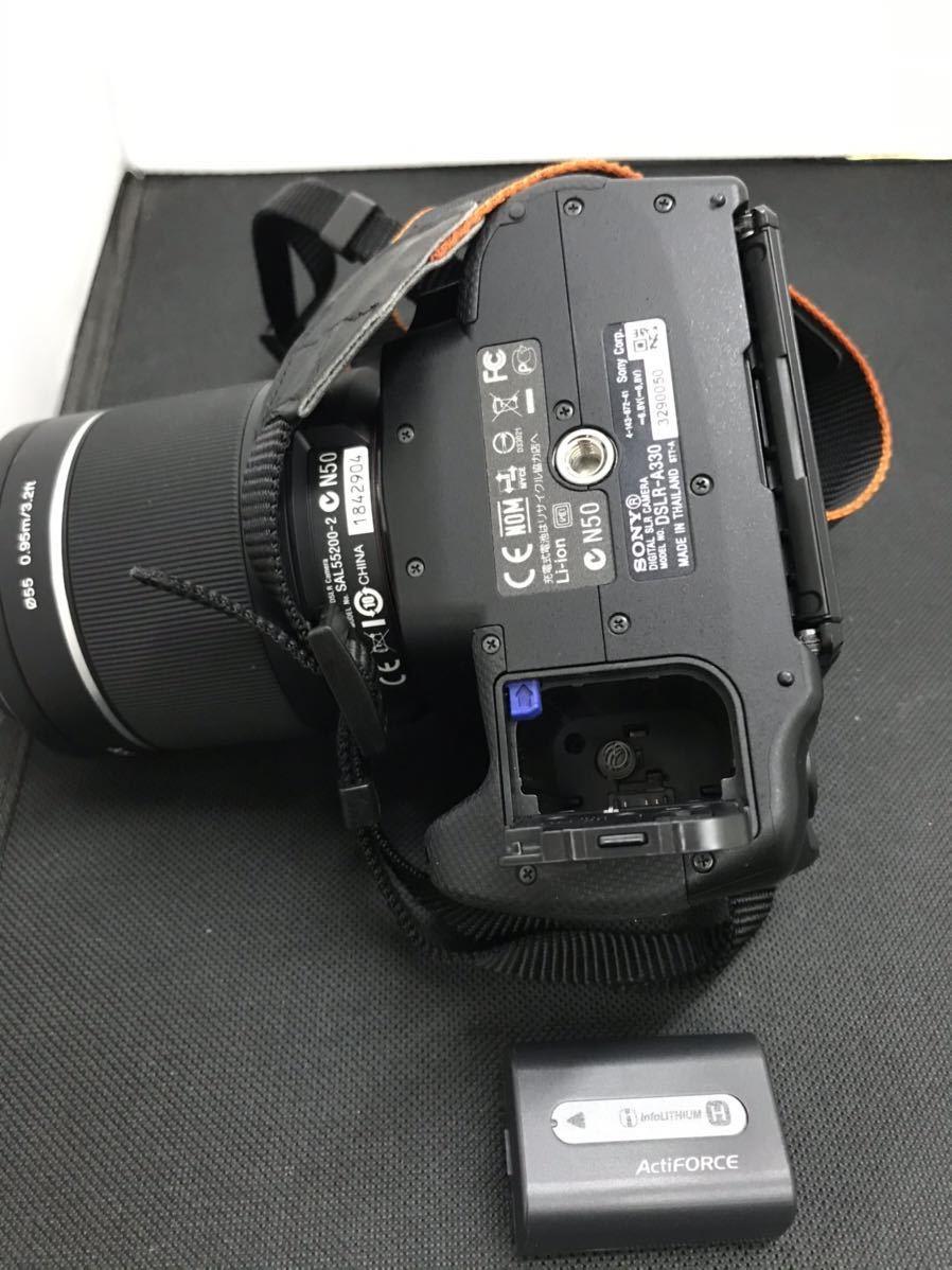 SONY ソニー デジタル一眼レフカメラ デジカメ DSLR-A330 レンズ付き ボディブラック 通電確認済み D847394-Y079#A226_画像6