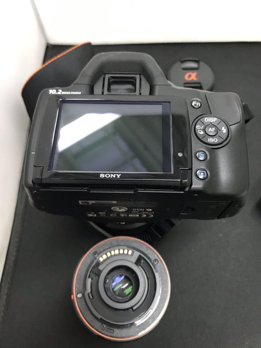 SONY ソニー デジタル一眼レフカメラ デジカメ DSLR-A330 レンズ付き ボディブラック 通電確認済み D847394-Y079#A226_画像8