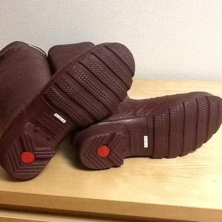 新品未使用 希少 HUNTER ハンター ロングレインブーツ US 5 インチ ブラウン 彫刻柄 (22-23cm) 長さ41cm 長靴_画像8