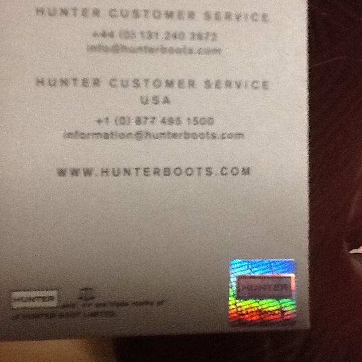 新品未使用 希少 HUNTER ハンター ロングレインブーツ US 5 インチ ブラウン 彫刻柄 (22-23cm) 長さ41cm 長靴_画像7