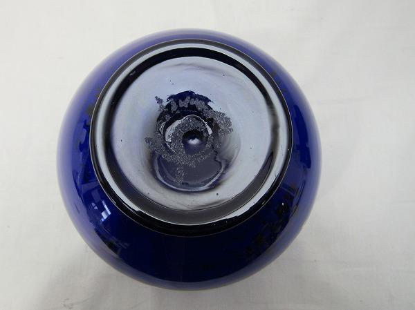 YF10336 【 古い 花瓶 ガラス製 色絵 箱無 】 検) 色ガラス 茶道具 華道具 一輪挿し 花入れ 華道 花器 花生 いけばな 飾り アンティーク ⅱ_画像6