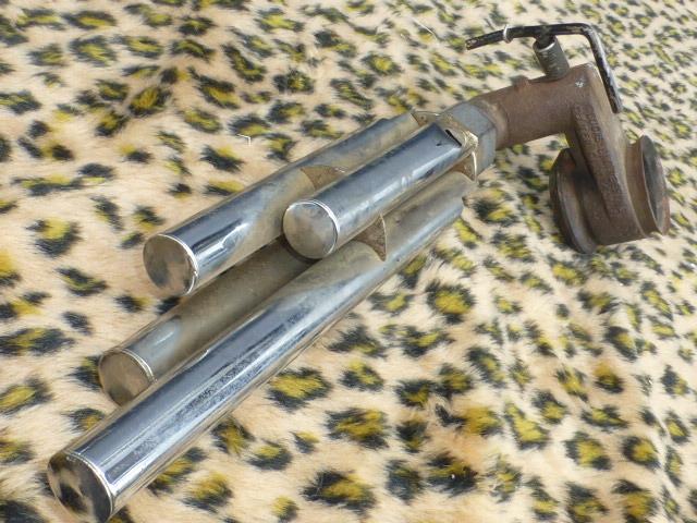 Auto Exhaust Horn Whistle 4パイプ ローライダー KUSTOM BOMB OG バリス HOTROD ホットロッド 旧車 フォード モデルA モデルT シボレー _画像5