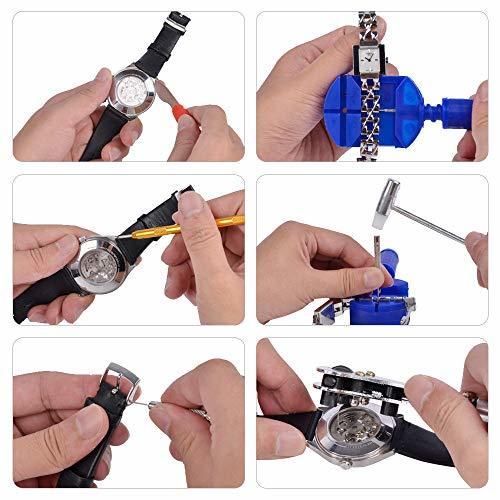 SHiZAK 時計修理工具セット 腕時計工具キット 腕時計修理工具セット ウォッチツール 時計工具セット 腕時計ベルト調整 工具_画像5