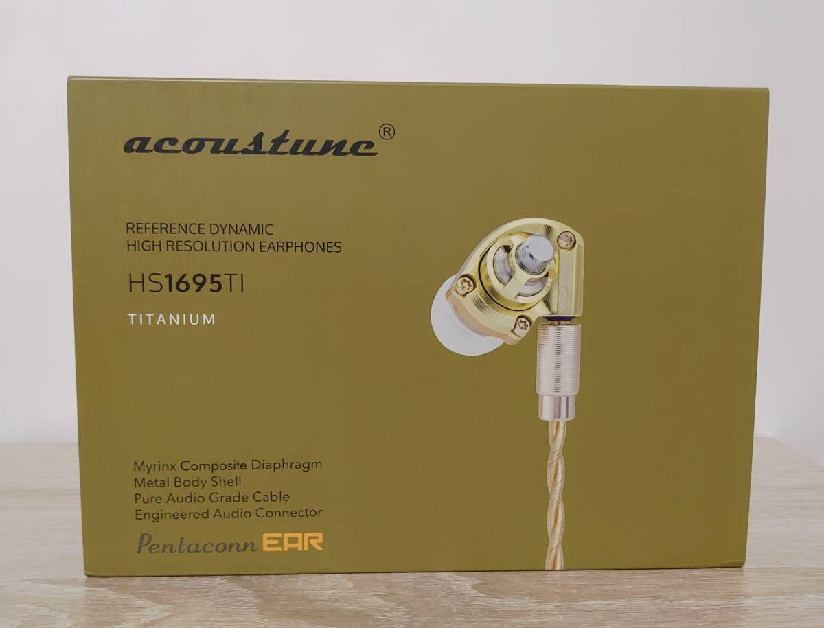 Acoustune HS1695Ti GOLD 140本限定 イヤホン 検) pentaconn sony AK 64 JH campfire noble audio final empire ears AAW FAudio_画像1