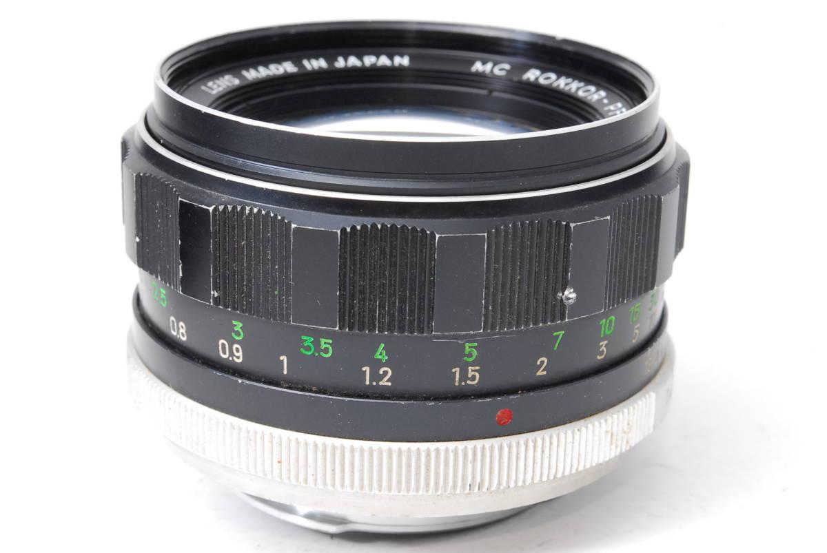 現状扱い ミノルタ MINOLTA MC ROKKOR-PF 58mm F1.4 【5589070】 ♯9139_画像4