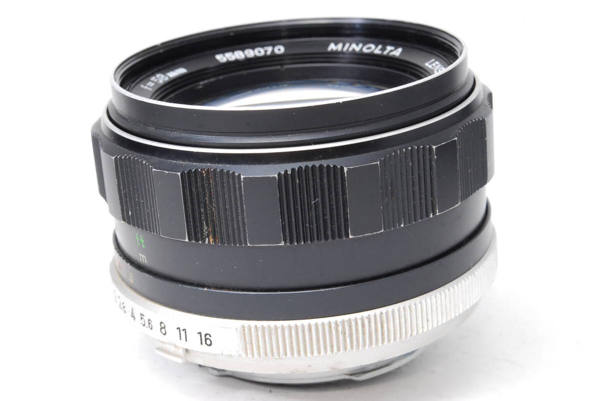 現状扱い ミノルタ MINOLTA MC ROKKOR-PF 58mm F1.4 【5589070】 ♯9139_画像6