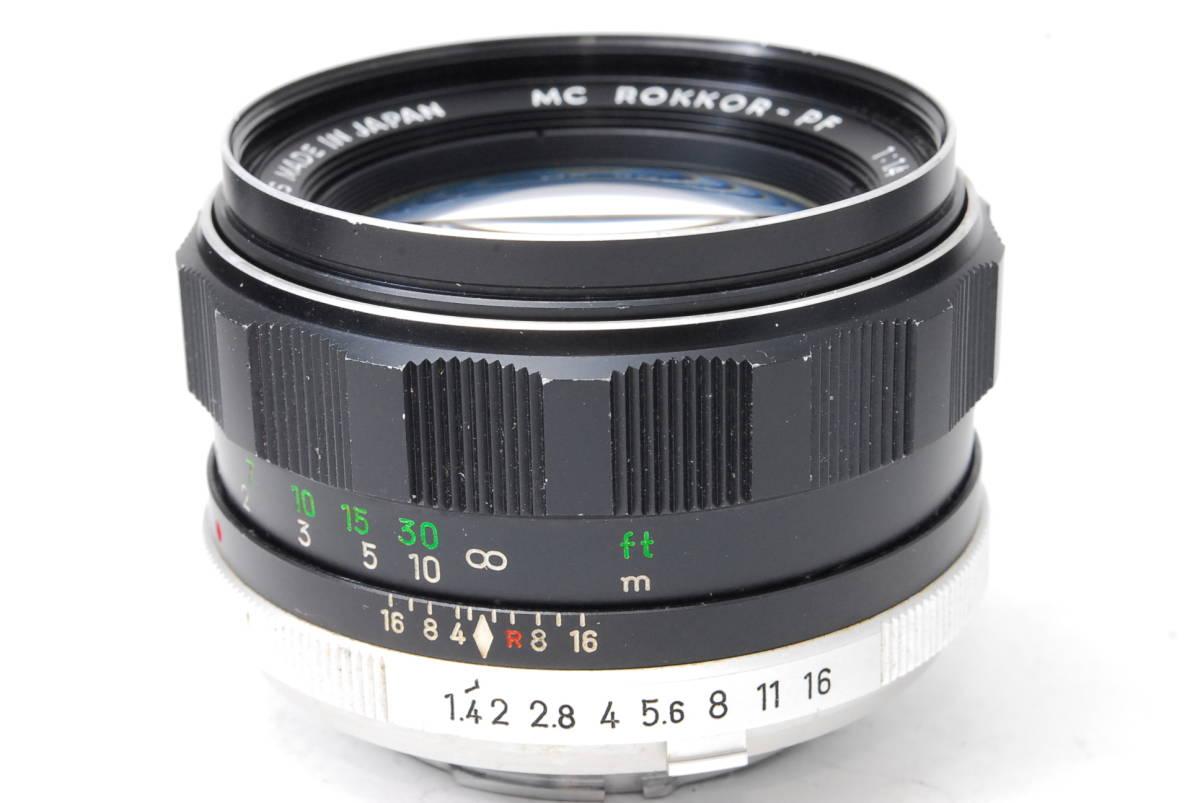 訳あり品 ミノルタ MINOLTA MC ROKKOR-PF 58mm F1.4 【5682834】 ♯9145_画像4