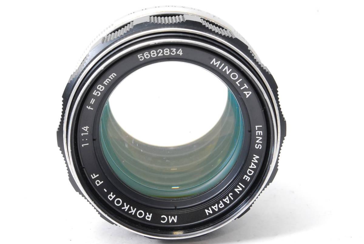 訳あり品 ミノルタ MINOLTA MC ROKKOR-PF 58mm F1.4 【5682834】 ♯9145_画像2