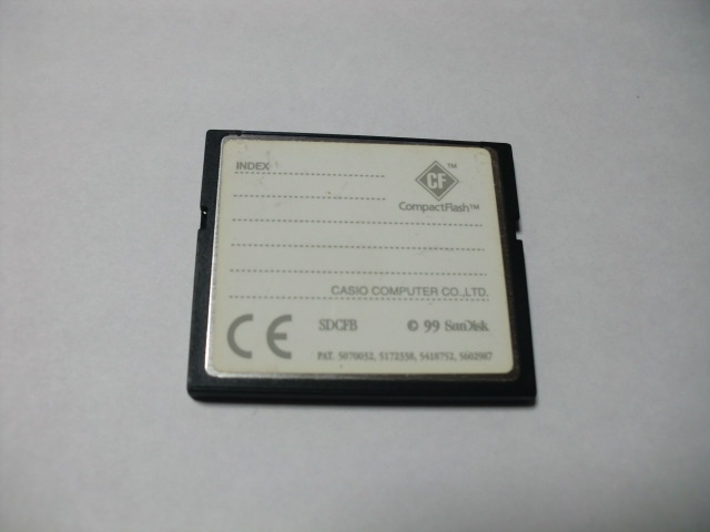 CASIO コンパクトフラッシュ 8MB メガバイト Compact Flash フォーマット済み 送料63円(ミニレター) CFカード_画像2