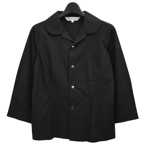 COMME des GARCONS COMME des GARCONS 2019ss コットン 丸襟 シャツジャケット 19ss コムコム ブラウス コムデギャルソン