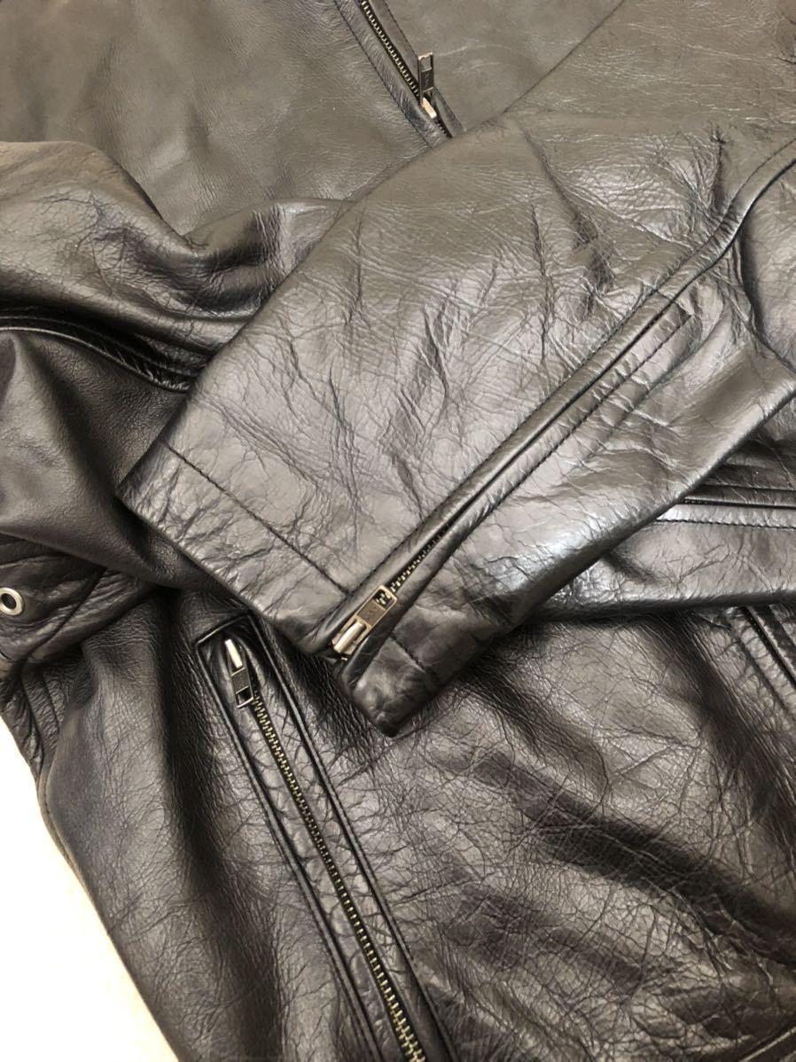 ★ 最終値下げ OLD GAP メンズ 黒 ブラック XS / TP レザージャケット ライダースジャケット 革ジャン レザーブルゾン 本革 牛革 ★_画像10