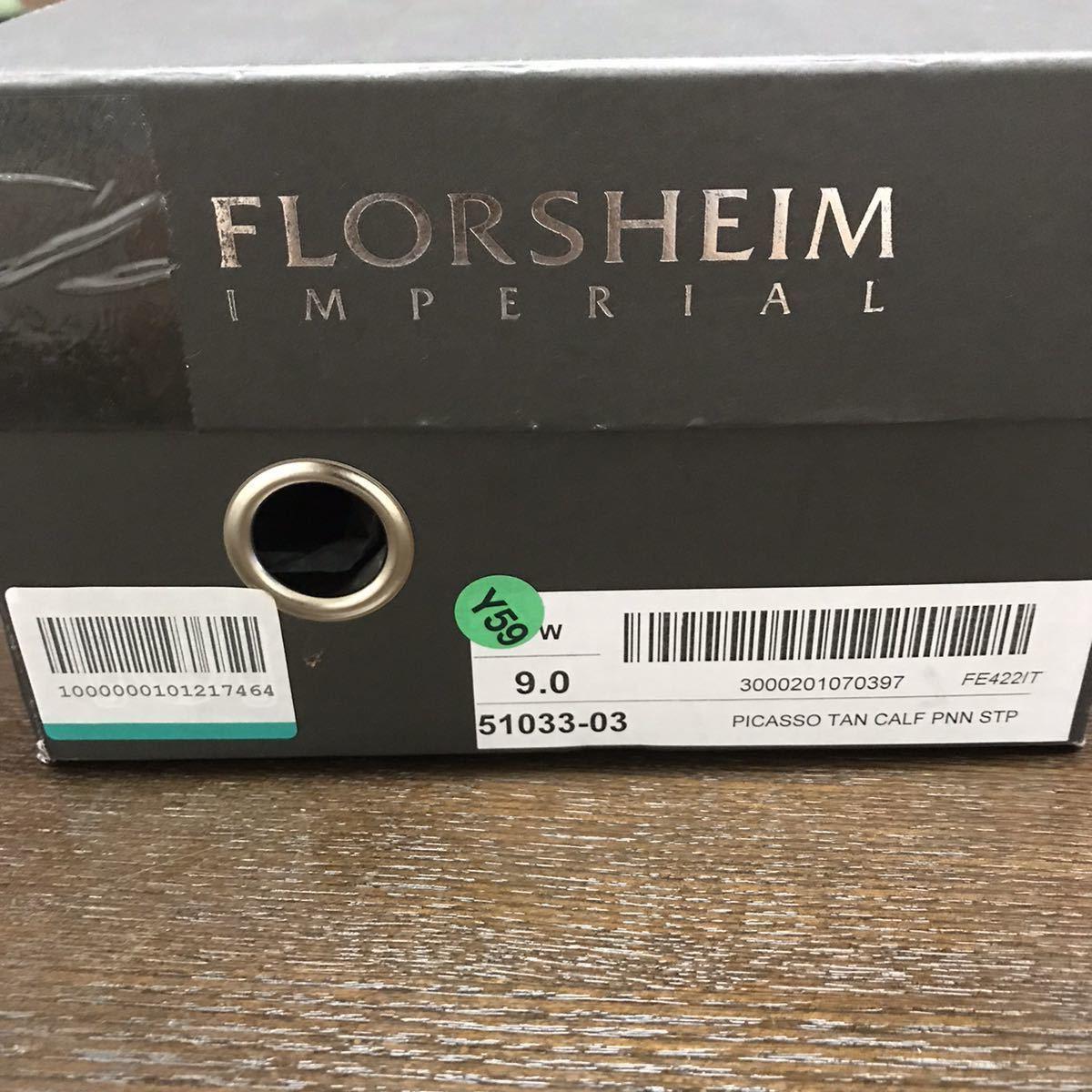 即決【送料0税0】新品 メンズ [UK9]28.0cm相当 4.8万 FLORSHEIM IMPERIAL フローシャイム 革靴 コインローファー モカシン レザーシューズ_画像10