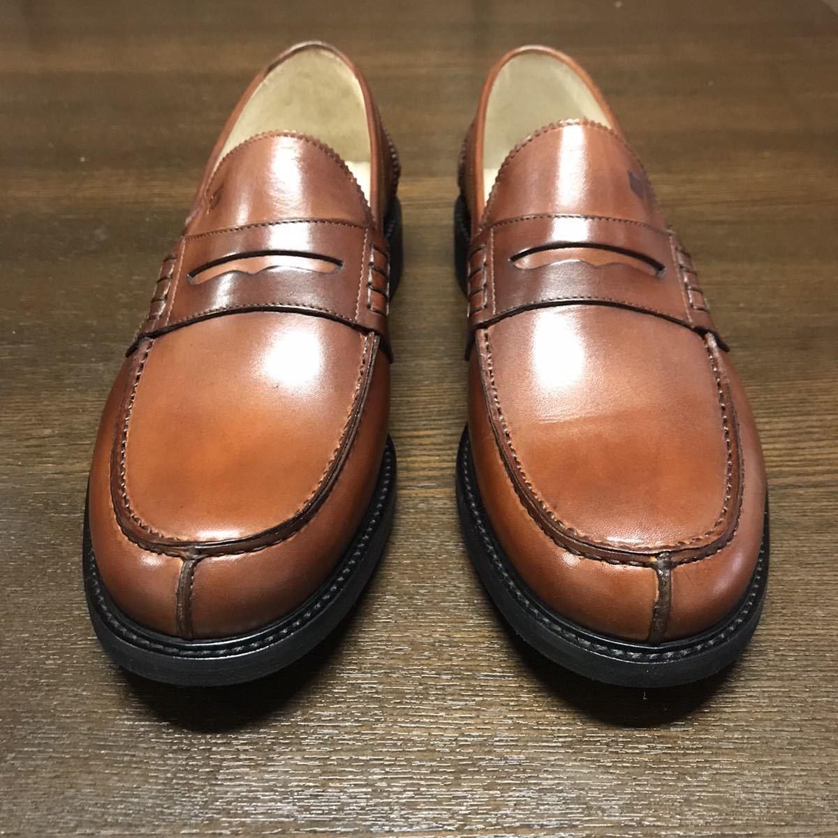 即決【送料0税0】新品 メンズ [UK9]28.0cm相当 4.8万 FLORSHEIM IMPERIAL フローシャイム 革靴 コインローファー モカシン レザーシューズ_画像3