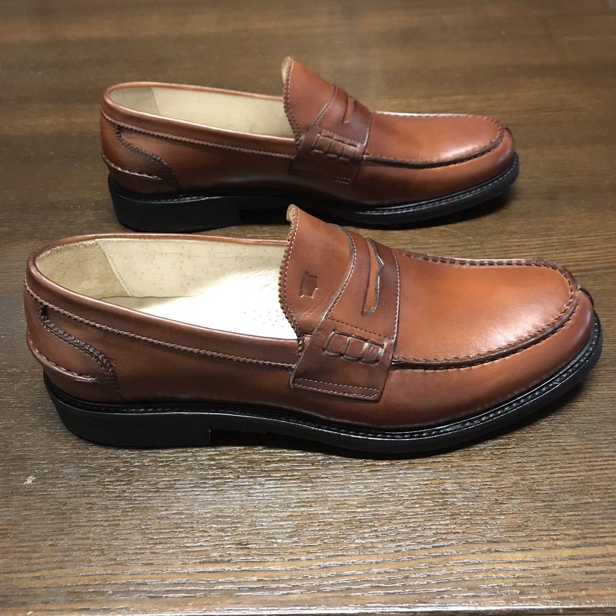 即決【送料0税0】新品 メンズ [UK9]28.0cm相当 4.8万 FLORSHEIM IMPERIAL フローシャイム 革靴 コインローファー モカシン レザーシューズ_画像6