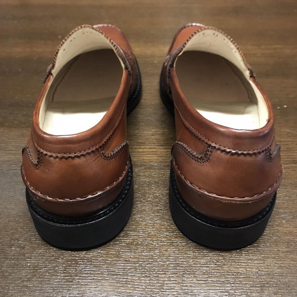 即決【送料0税0】新品 メンズ [UK9]28.0cm相当 4.8万 FLORSHEIM IMPERIAL フローシャイム 革靴 コインローファー モカシン レザーシューズ_画像5