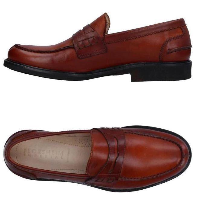 即決【送料0税0】新品 メンズ [UK9]28.0cm相当 4.8万 FLORSHEIM IMPERIAL フローシャイム 革靴 コインローファー モカシン レザーシューズ_画像2
