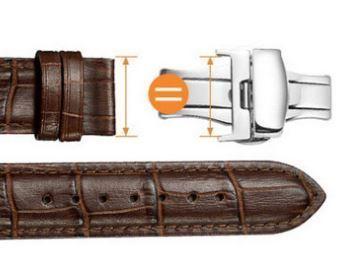 送料込み プッシュ式観音開き・Dバックル・尾錠幅24mm・シルバー色・時計ベルトをおしゃれにランクアップ バンド傷み軽減_画像3