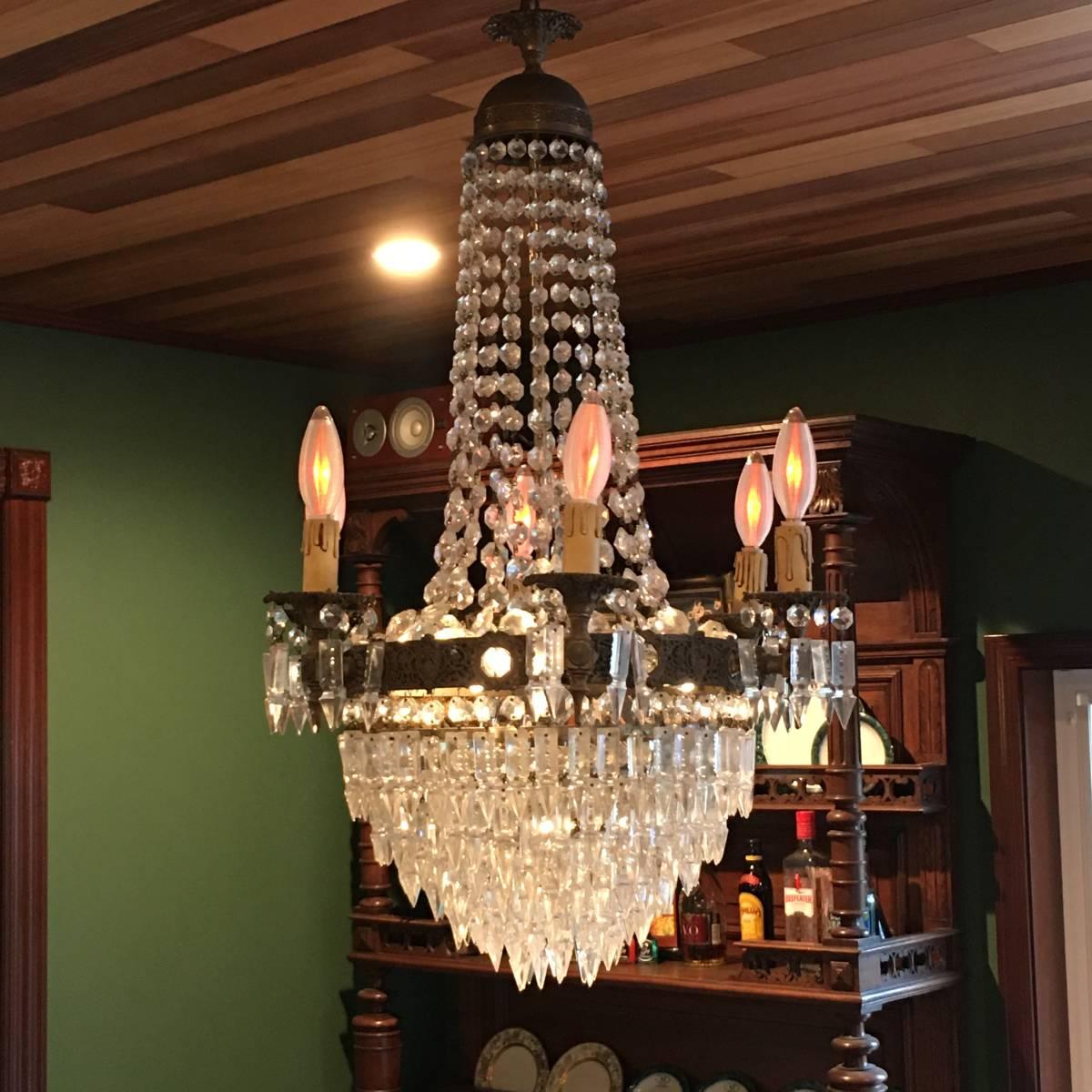 フランスアンティーク シャンデリア 10灯 エンパイア様式 アンティーク照明 アンティーク アンティーク家具 クリスタルシャンデリア_画像3
