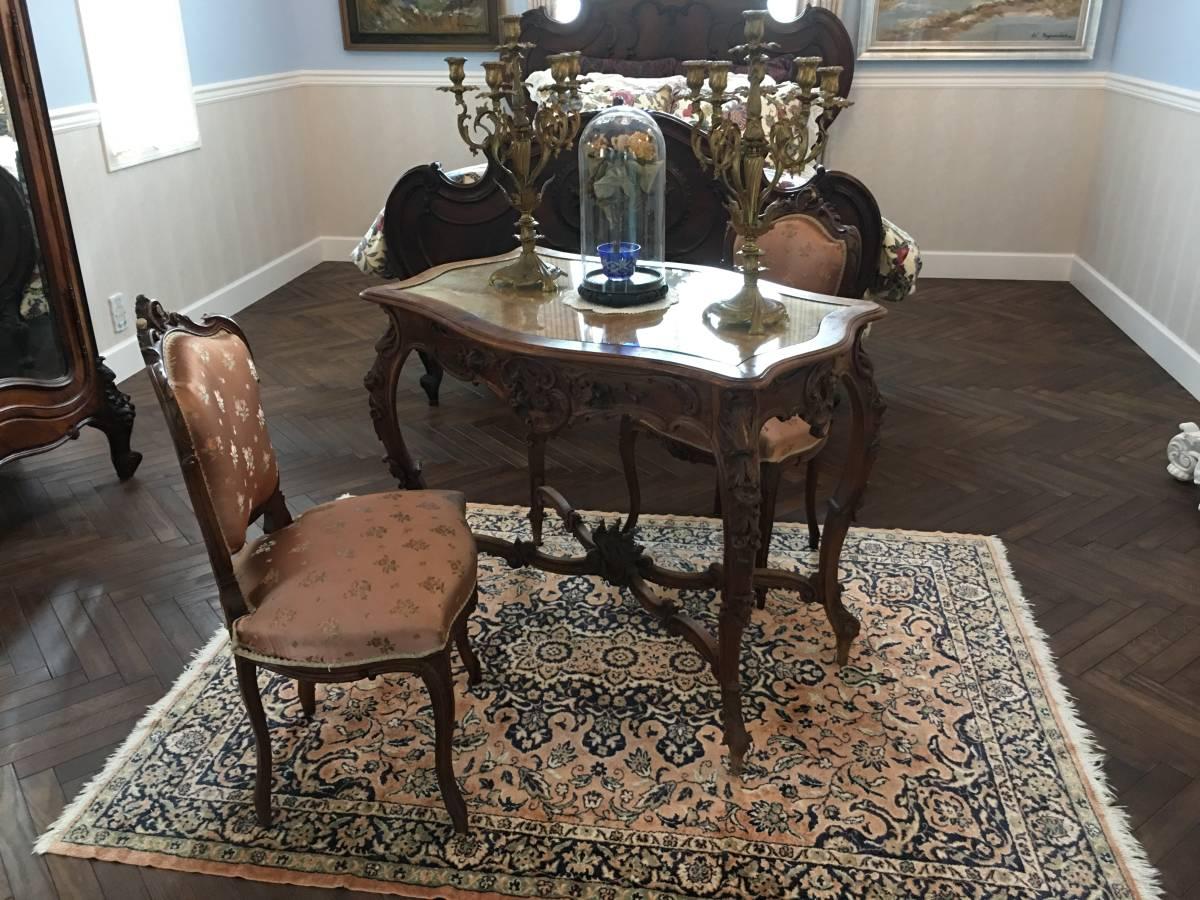 フランスアンティーク テーブル アンティークテーブル 19世紀 コンソールテーブル ルイ15世様式 ロココ様式 アンティーク家具_撮影用小物はつきません