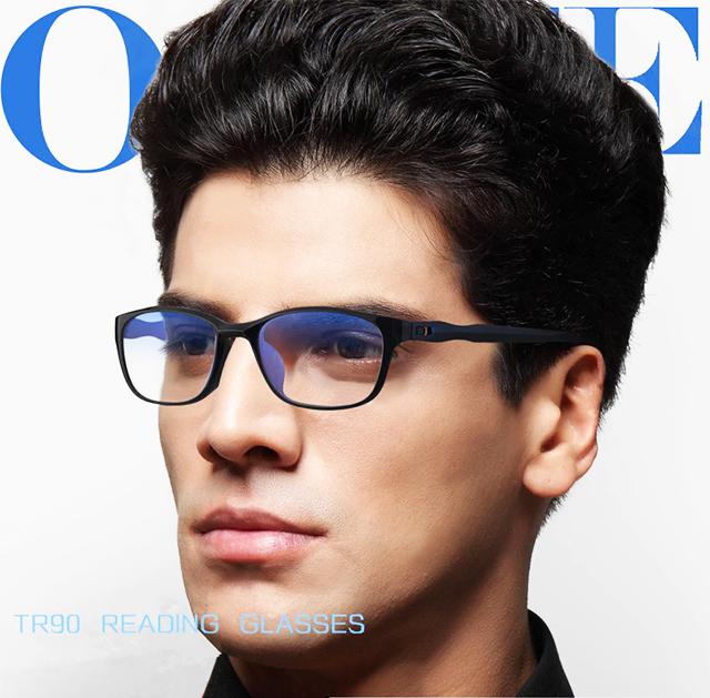 アウトレット リーディンググラス 老眼鏡 黒&紺 +1.0 ブルーライトカット PC スマホ シニアグラス メンズ レディース 軽い おしゃれ_画像2