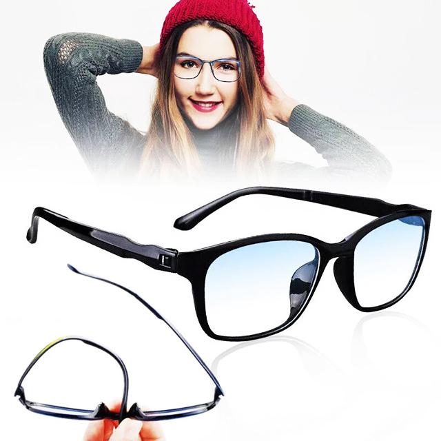 アウトレット リーディンググラス 老眼鏡 黒&紺 +1.0 ブルーライトカット PC スマホ シニアグラス メンズ レディース 軽い おしゃれ_画像3