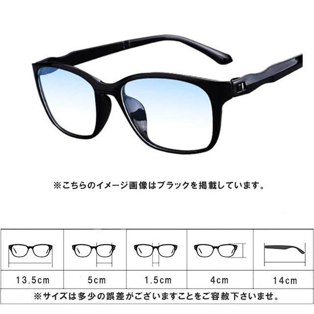 アウトレット リーディンググラス 老眼鏡 黒&紺 +1.0 ブルーライトカット PC スマホ シニアグラス メンズ レディース 軽い おしゃれ_画像6