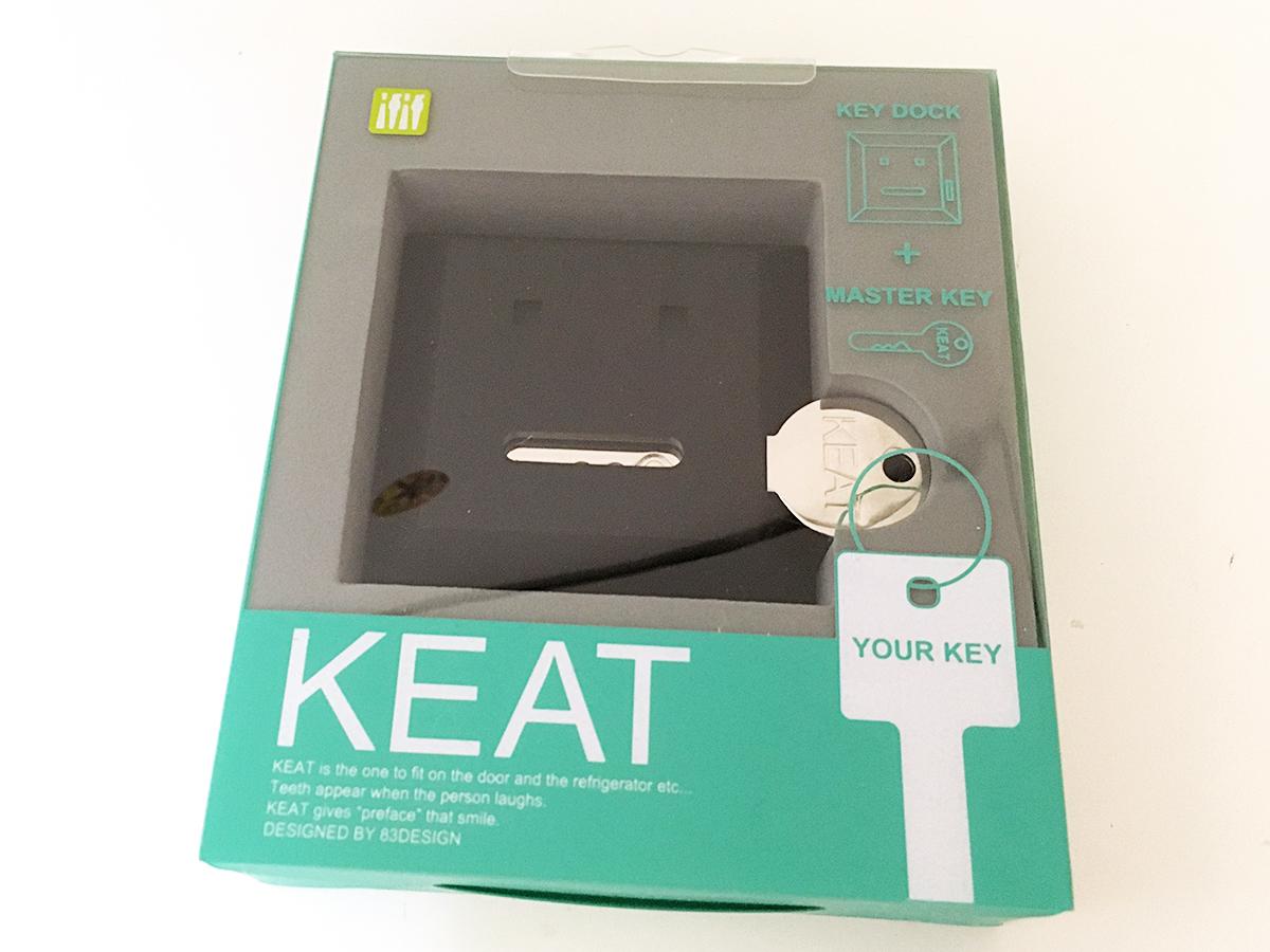 【 カギなくし防止 】 キート 「KEAT」グリーン&ブラック キースタンド 2個セット 【 鍵収納 】_画像4