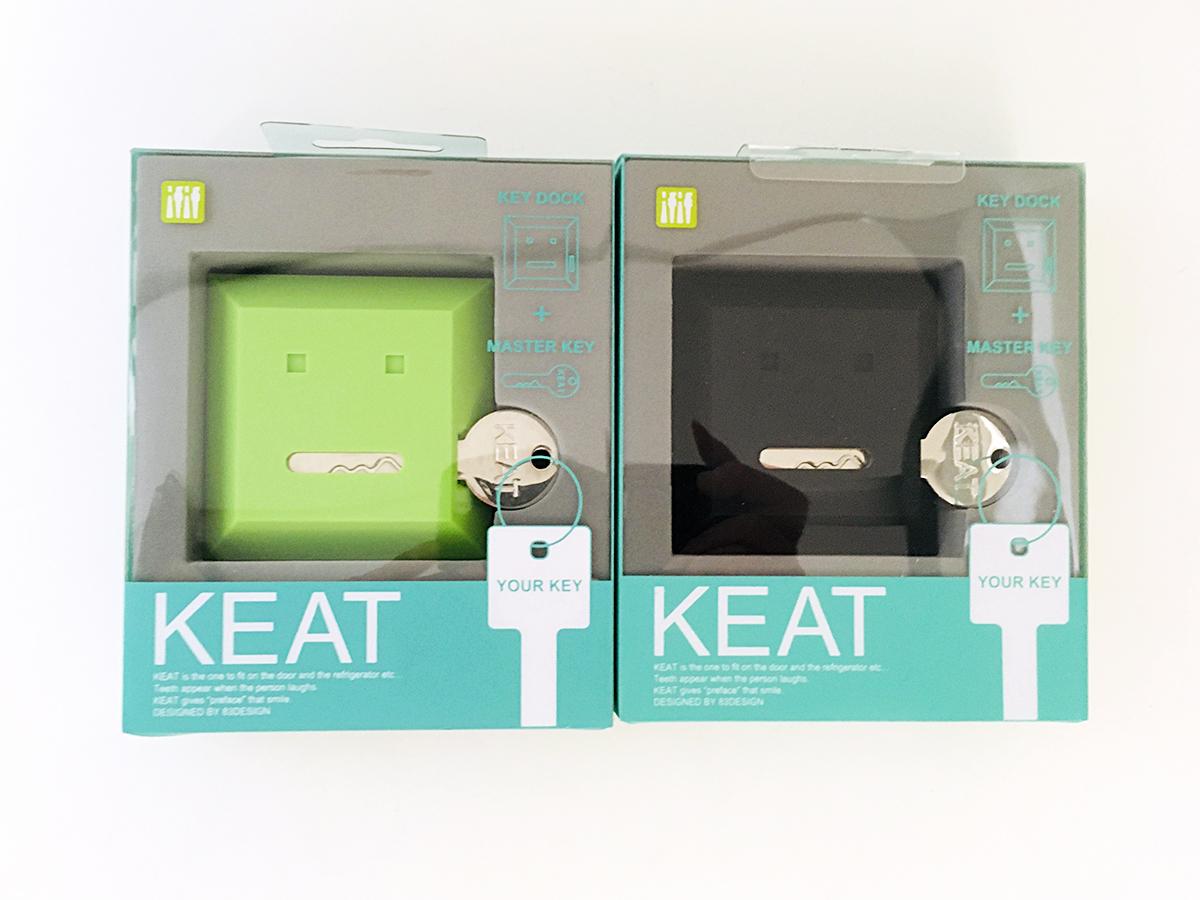 【 カギなくし防止 】 キート 「KEAT」グリーン&ブラック キースタンド 2個セット 【 鍵収納 】_画像2
