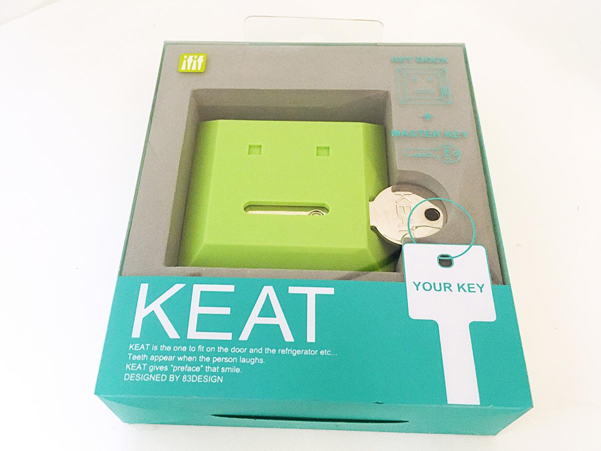 【 カギなくし防止 】 キート 「KEAT」グリーン&ブラック キースタンド 2個セット 【 鍵収納 】_画像3