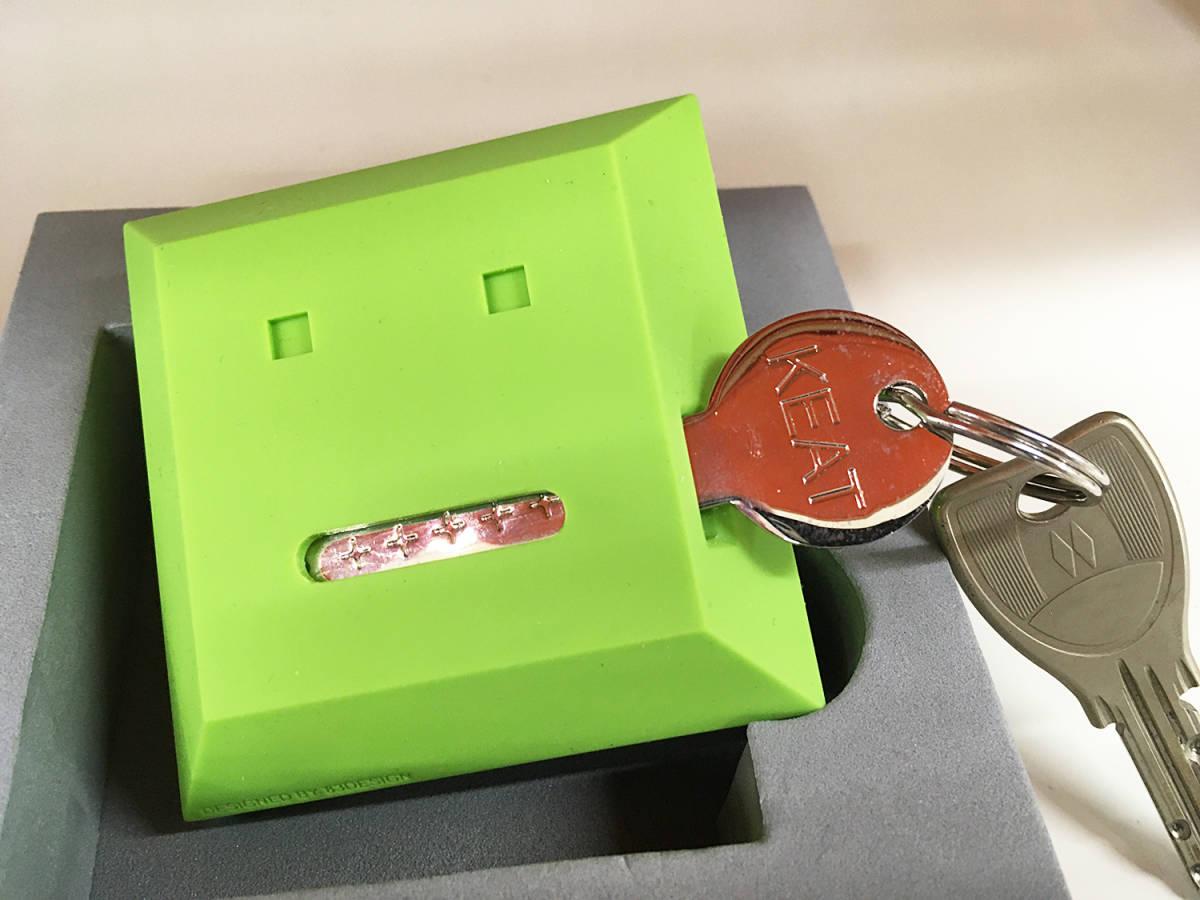 【 カギなくし防止 】 キート 「KEAT」グリーン&ブラック キースタンド 2個セット 【 鍵収納 】_画像6