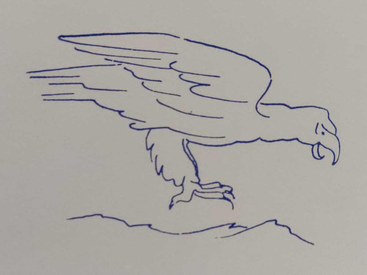 鷲 イーグル 岩 鳥類 バード フランス アンティーク スタンプ ヴィンテージ ハンコ ビンテージ レトロ フレンチ 野生 野鳥_画像2