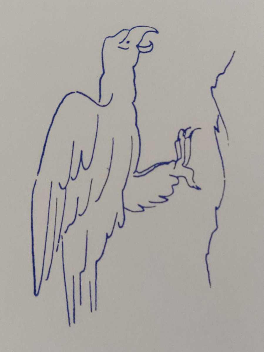 鷲 イーグル 岩 鳥類 バード フランス アンティーク スタンプ ヴィンテージ ハンコ ビンテージ レトロ フレンチ 野生 野鳥_画像3