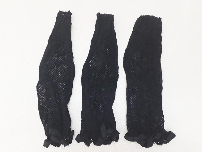 (送料無料)ウィッグ 装着前の自毛まとめる(ウィッグネット 黒 3枚セット)全頭 コスプレ ファッションかつら 医療用 かつら フルウィッグ_画像4