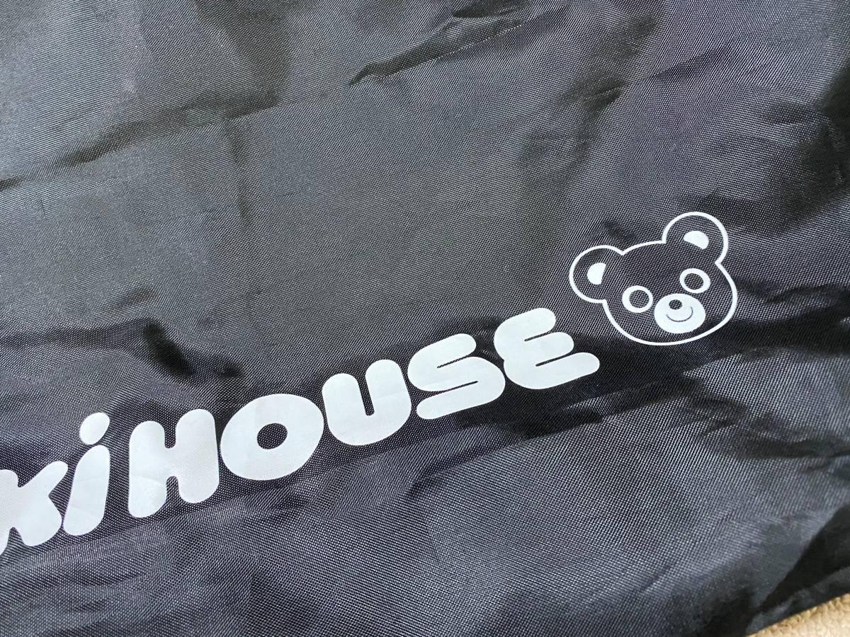 激安!MIKIHOUSE ミキハウス シンプル ブラック エコバック ナイロン ショッピングバッグ 黒 くまのプッチー_画像2