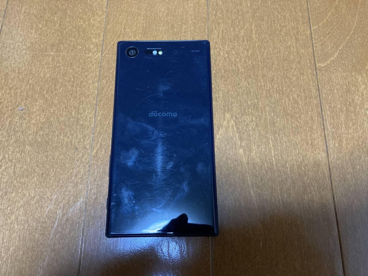 docomo Sony Xperia X Compact SO-02J 4.6インチ 32GB ブラック 本体 中古 SIMロック解除済_画像2