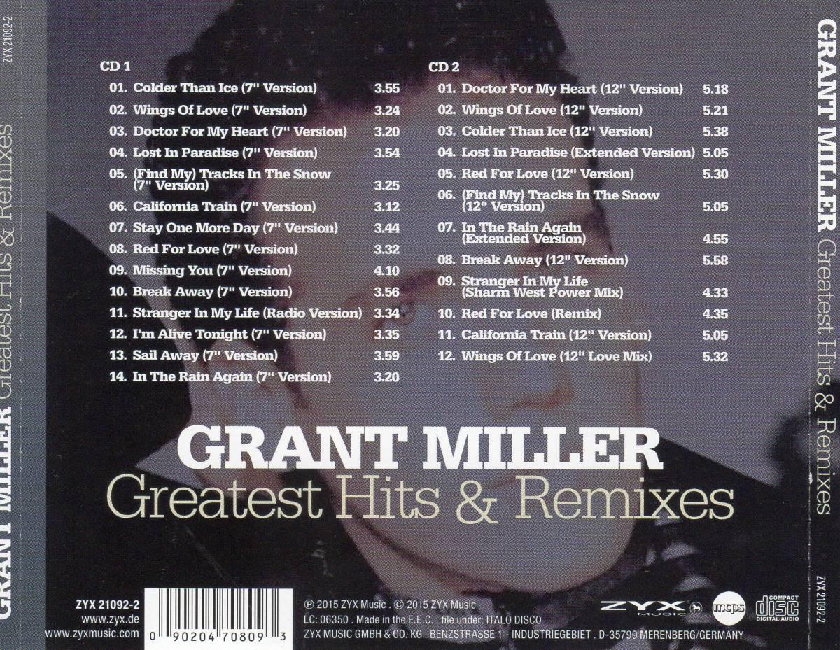 ユーロビート/ディスコ★グラント・ミラー(GRANT MILLER))★Greatest Hits & Remixes