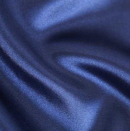 サテン ナイトウエア パジャマ セットアップ Lサイズ 長袖 パープル ルームウェア 上下セット ナイトウェア レディースパジャマ 部屋着