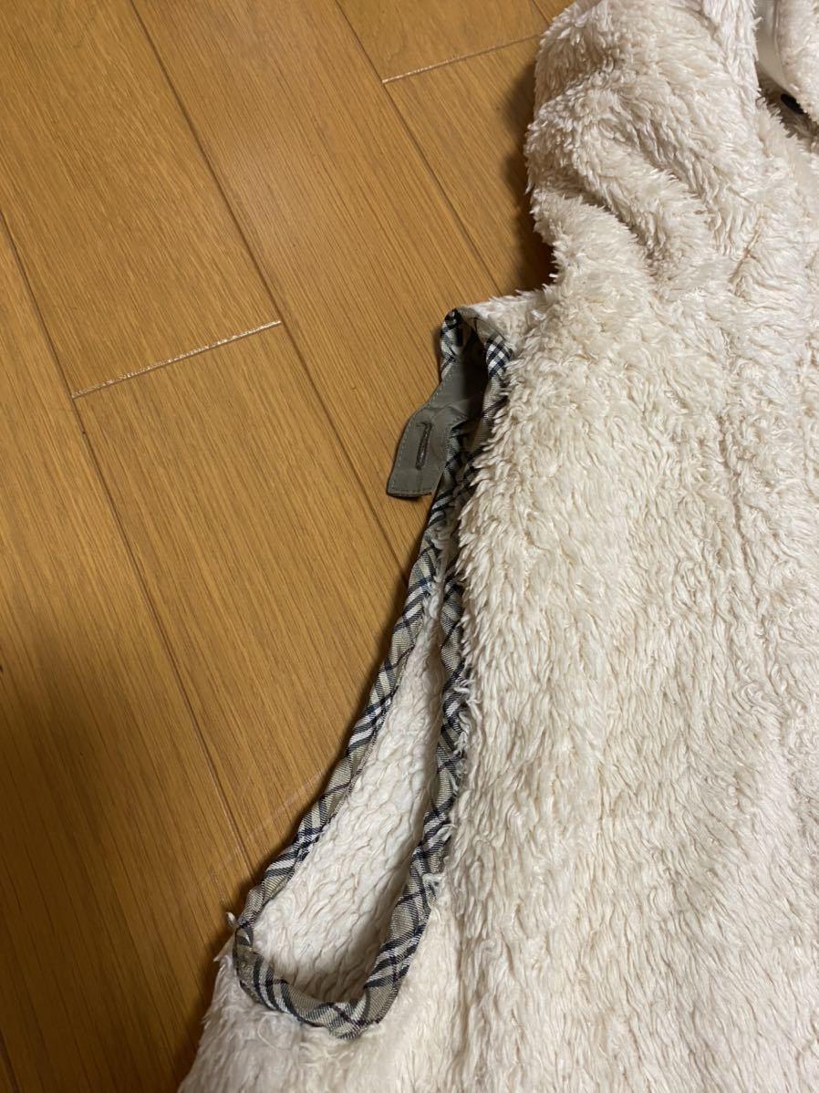 超美品★バーバリーブルーレーベル 豪華モッズコート 38 中綿入り★ 8万円_画像3