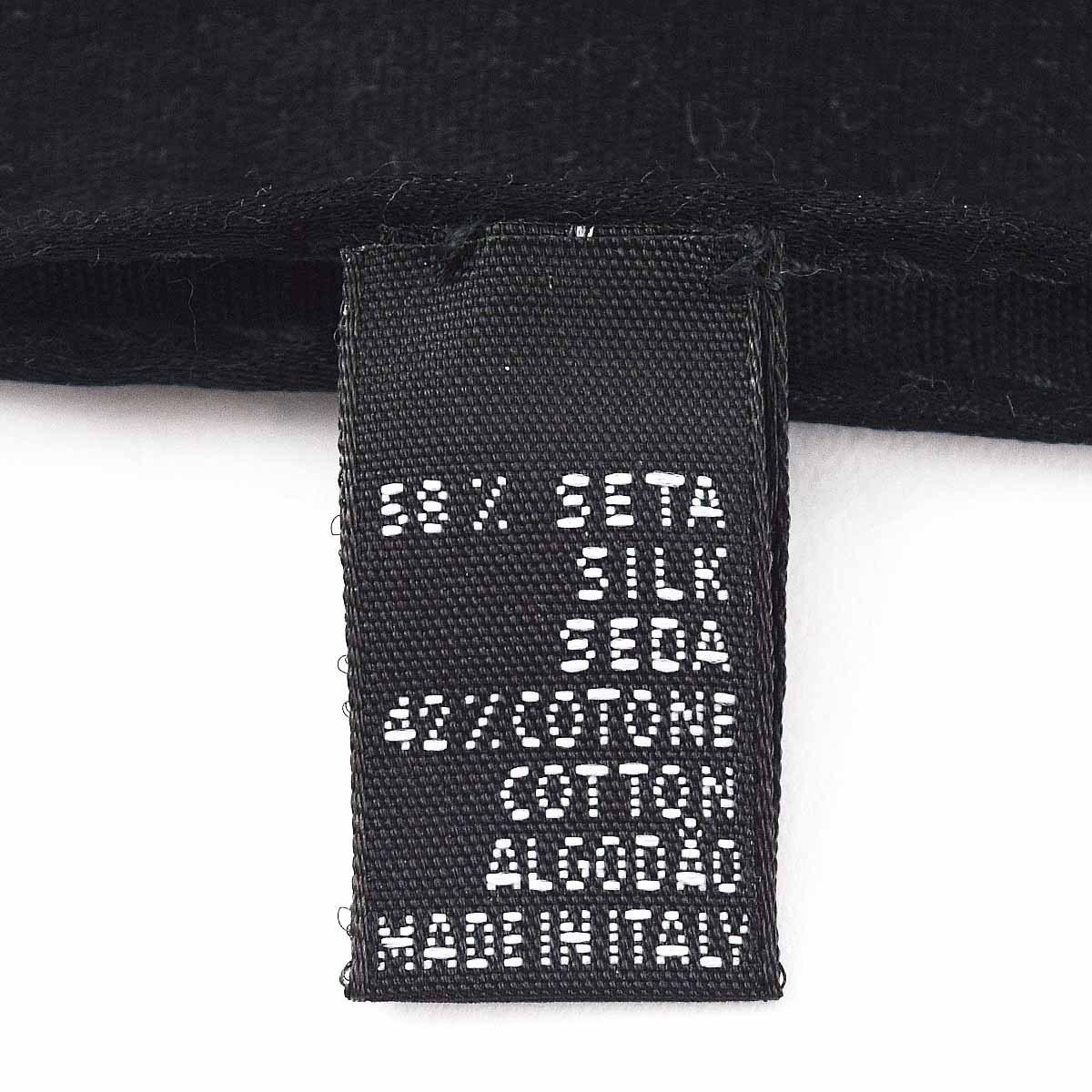 PATEK PHILIPPE パテックフィリップ ロング ストール ブラック 58%シルク 42%コットン Made In Italy ノベルティ 32460620_画像4