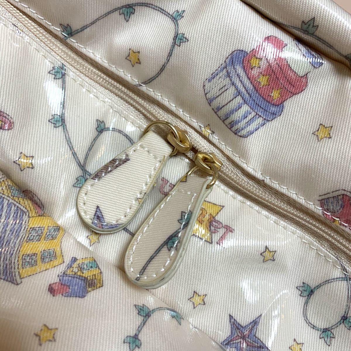 ジェラートピケ   マザーズバッグ ママバッグ おもちゃ柄 ピンク