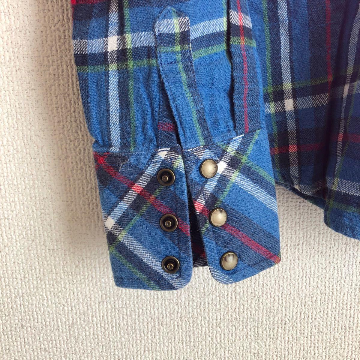 チェックシャツ ネルシャツ 長袖 チェック柄 長袖シャツ