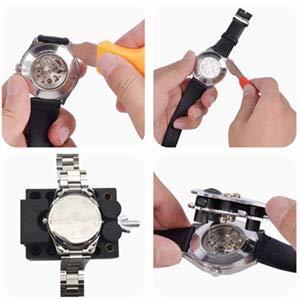 SHiZAK 時計修理工具セット 腕時計工具キット 腕時計修理工具セット ウォッチツール 時計工具セット 腕時計ベルト調整 工具_画像4