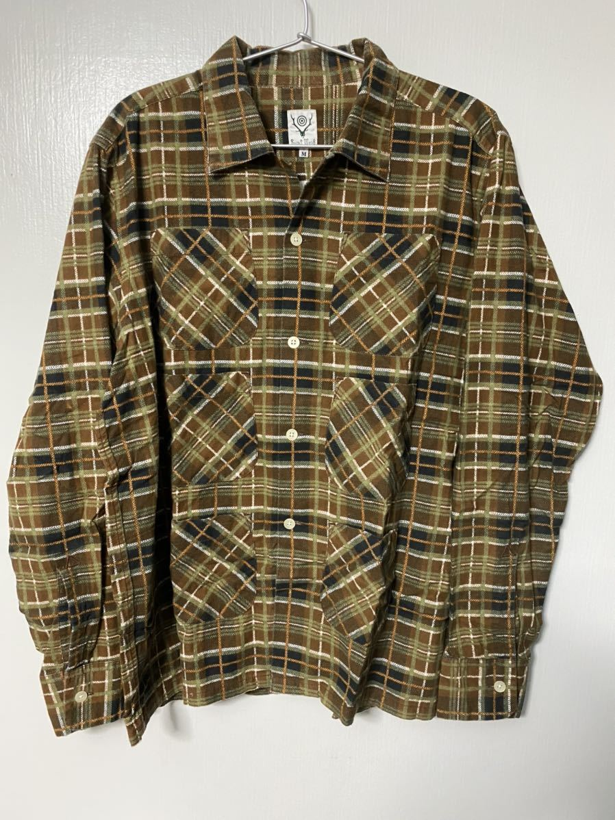 south2west8 S2W8 flannel 6 pockets classic shirt & flannel strings short セットアップ_画像3