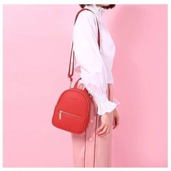 【最安値&追跡可】レディースショルダーバッグ 3WAY 女性用リュック ハンドバッグ 通勤 カバン 通学 スクールバッグ かばん 学生_画像3
